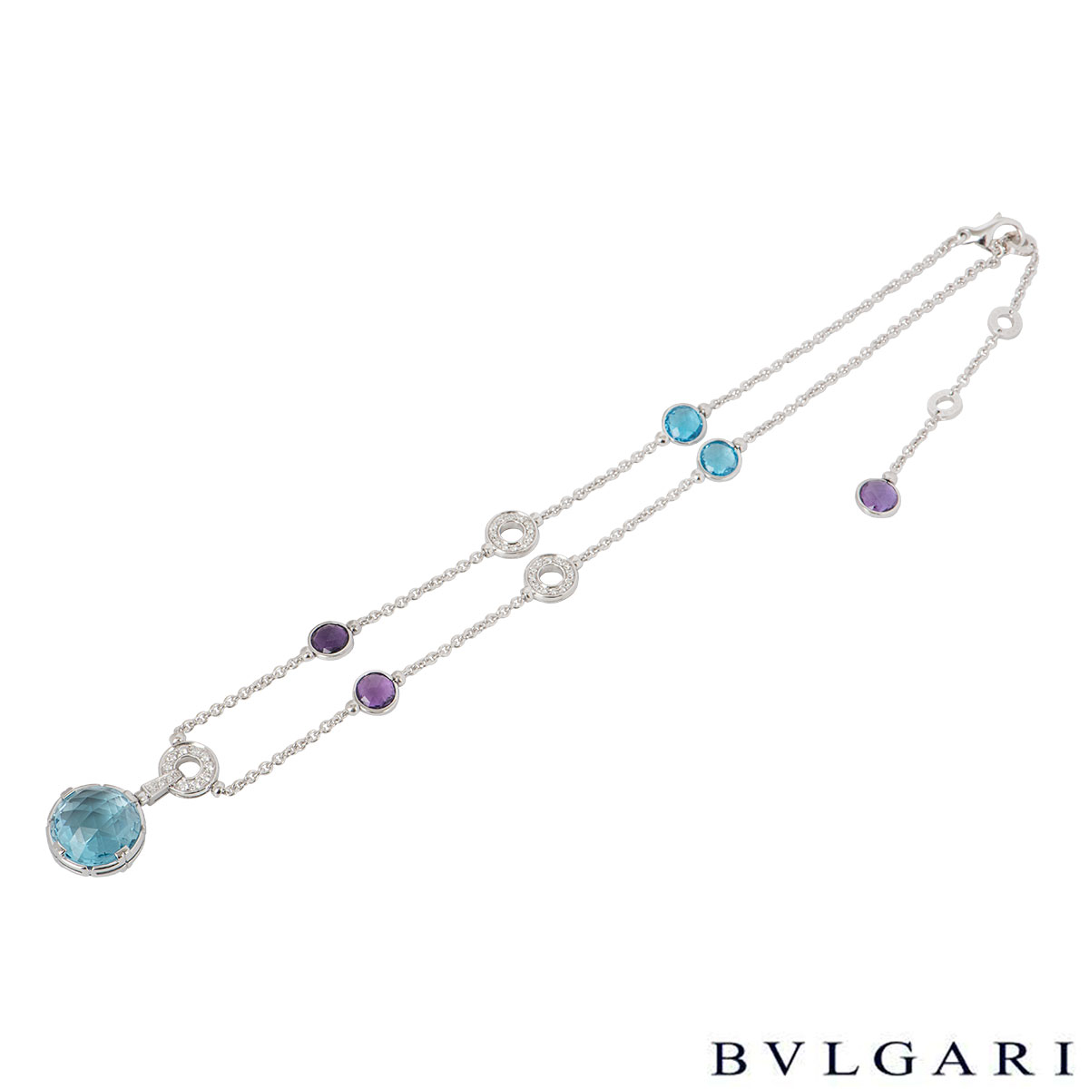 Bvlgari Parentesi White Gold Diamond And Multi-Gem Necklace